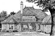 European Style House Plan - 4 Beds 4.5 Baths 3769 Sq/Ft Plan #310-554 Exterior - Other Elevation