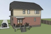 Craftsman Style House Plan - 3 Beds 2.5 Baths 1571 Sq/Ft Plan #79-297 Exterior - Rear Elevation
