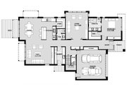 Modern Style House Plan - 4 Beds 2.5 Baths 2885 Sq/Ft Plan #496-25 Floor Plan - Main Floor Plan