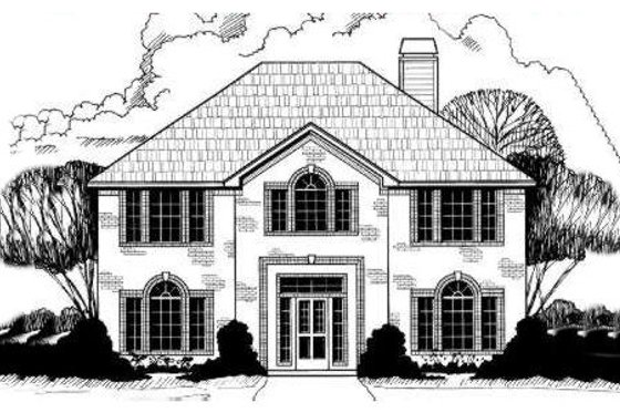 European Exterior - Front Elevation Plan #317-112