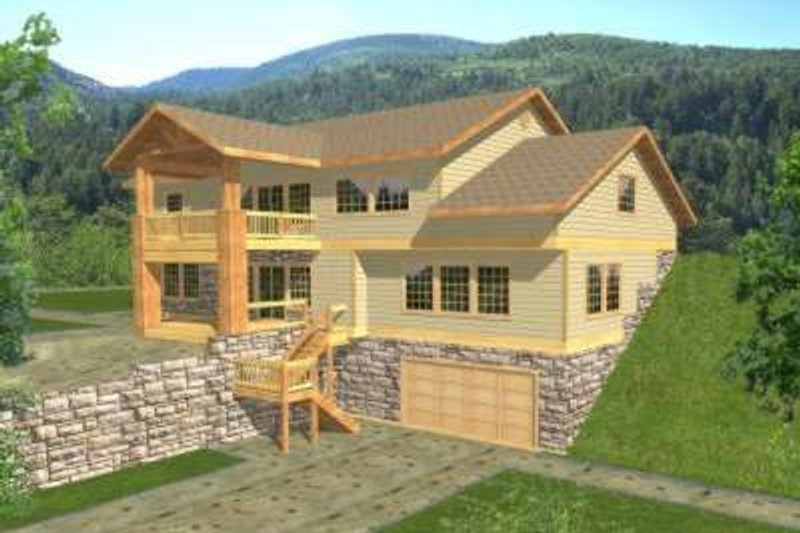 Traditional Exterior - Front Elevation Plan #117-362 - Houseplans.com