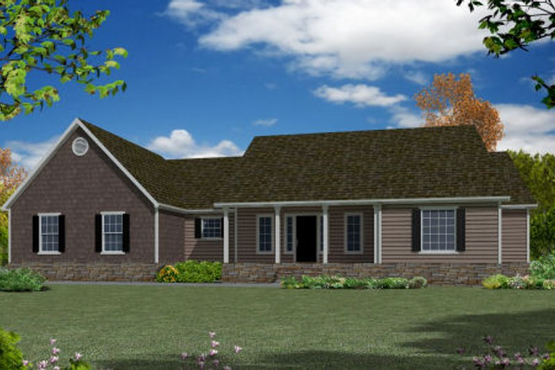 Ranch Exterior - Front Elevation Plan #437-27 - Houseplans.com