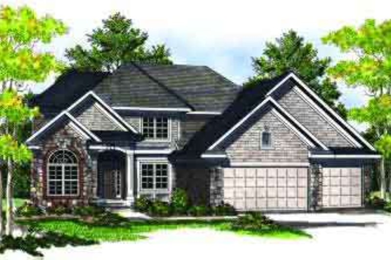 Traditional Exterior - Front Elevation Plan #70-705 - Houseplans.com