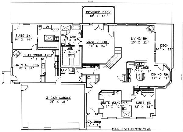 Modern Floor Plan - Main Floor Plan Plan #117-524