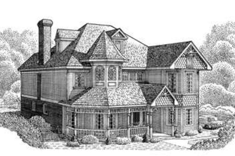 Victorian Exterior - Front Elevation Plan #410-156