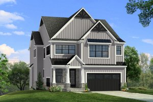Architectural House Design - Farmhouse Exterior - Front Elevation Plan #1057-32