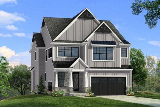 Farmhouse Exterior - Front Elevation Plan #1057-32