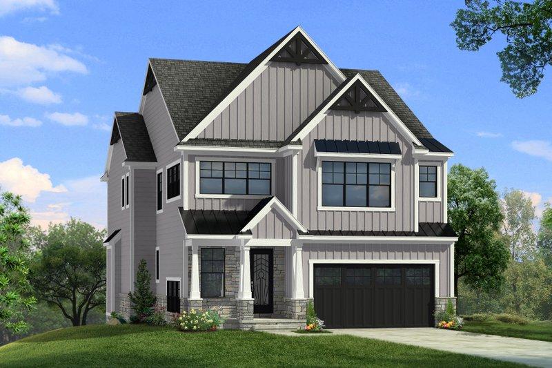 Dream House Plan - Farmhouse Exterior - Front Elevation Plan #1057-32