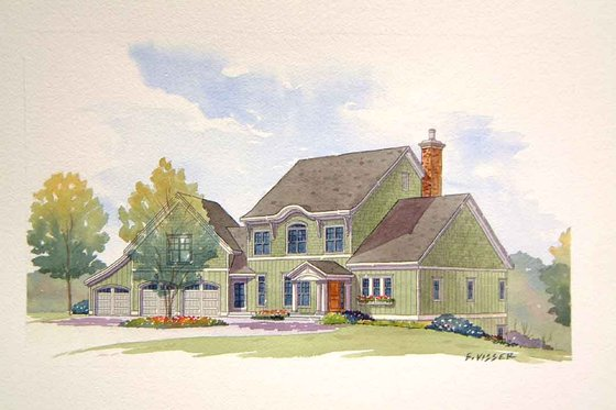 Traditional Exterior - Front Elevation Plan #901-106