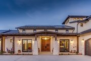 Mediterranean Style House Plan - 4 Beds 4.5 Baths 4185 Sq/Ft Plan #935-4 Exterior - Front Elevation