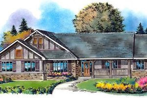 Ranch Exterior - Front Elevation Plan #18-4516