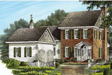 Colonial Exterior - Front Elevation Plan #137-187
