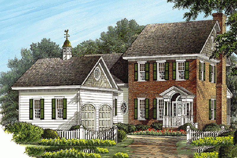 Colonial Exterior - Front Elevation Plan #137-187 - Houseplans.com