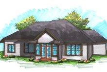 Dream House Plan - Ranch Exterior - Rear Elevation Plan #70-1032