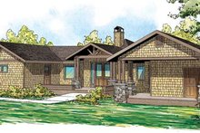Dream House Plan - Craftsman Exterior - Front Elevation Plan #124-861