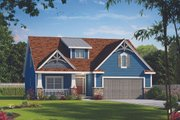 Cottage Style House Plan - 4 Beds 3 Baths 2232 Sq/Ft Plan #20-2315 Exterior - Front Elevation