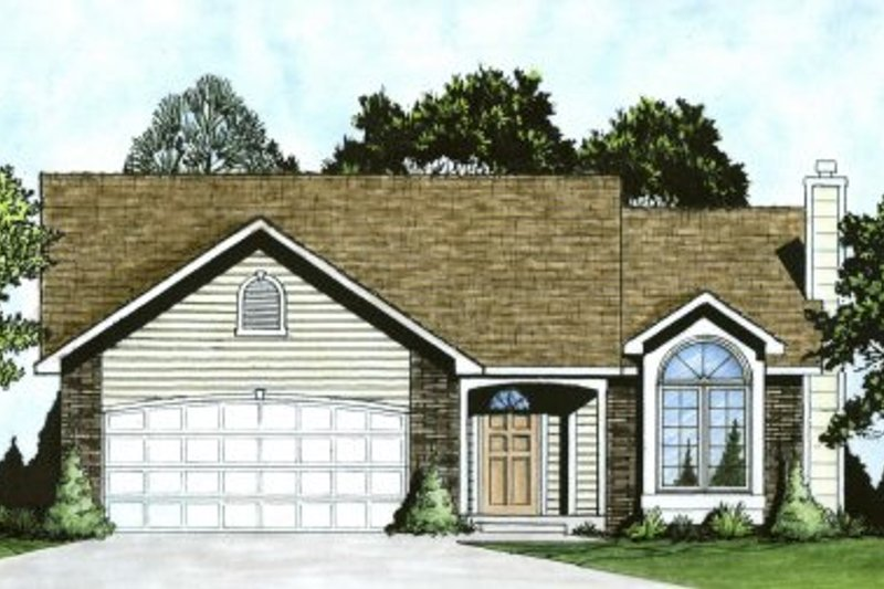 Traditional Exterior - Front Elevation Plan #58-158