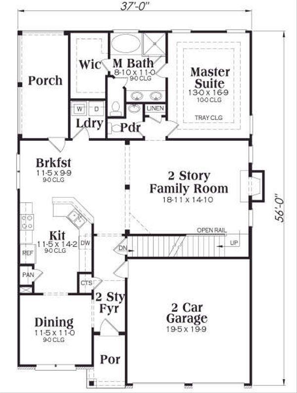 Craftsman Floor Plan - Main Floor Plan Plan #419-175