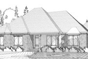 Traditional Style House Plan - 4 Beds 3 Baths 2911 Sq/Ft Plan #63-361 Exterior - Front Elevation