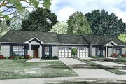 Traditional Style House Plan - 2 Beds 1 Baths 852 Sq/Ft Plan #17-2406 Exterior - Front Elevation