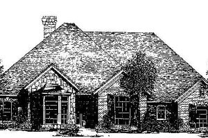 Colonial Exterior - Front Elevation Plan #310-717