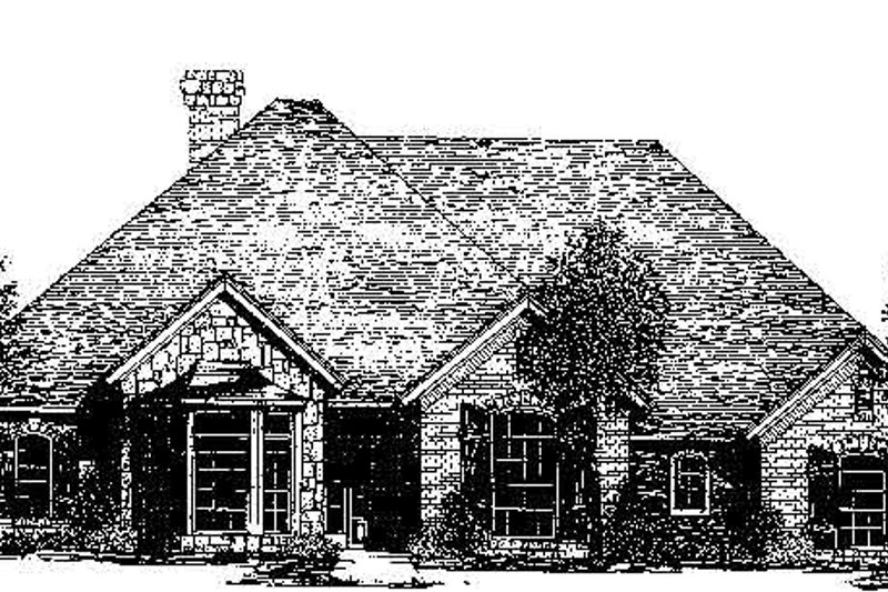 Colonial Style House Plan - 3 Beds 2.5 Baths 2369 Sq/Ft Plan #310-717 Exterior - Front Elevation