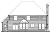 Traditional Style House Plan - 4 Beds 2.5 Baths 2694 Sq/Ft Plan #48-451 Exterior - Rear Elevation