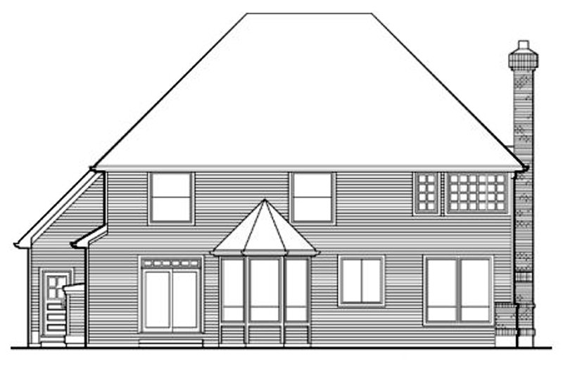 Traditional Exterior - Rear Elevation Plan #48-451 - Houseplans.com