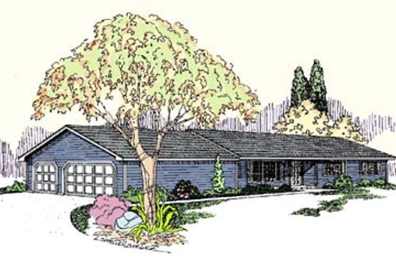 Ranch Exterior - Front Elevation Plan #60-533