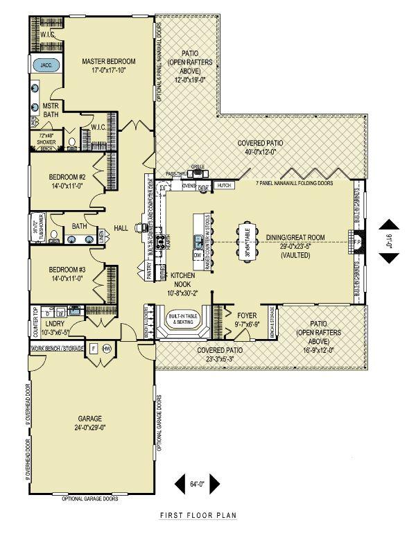 Ranch Floor Plan - Main Floor Plan #436-1