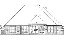 Dream House Plan - European Exterior - Rear Elevation Plan #310-977