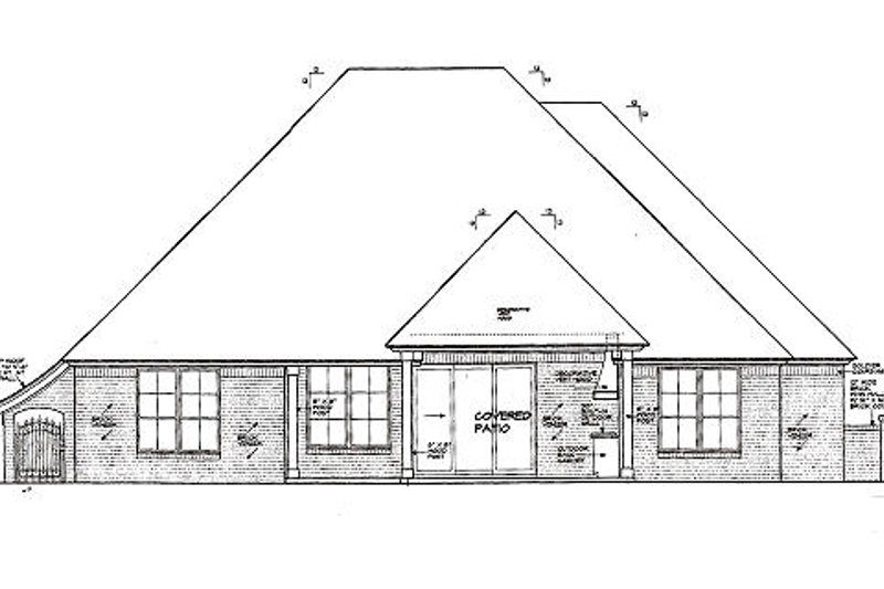 European Exterior - Rear Elevation Plan #310-977 - Houseplans.com