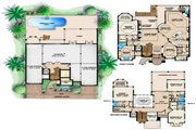 Mediterranean Style House Plan - 4 Beds 5.1 Baths 8740 Sq/Ft Plan #27-528 Floor Plan - Main Floor Plan