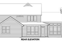 Craftsman Exterior - Rear Elevation Plan #48-391