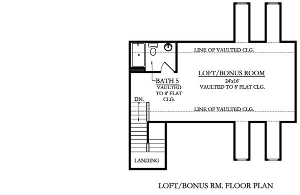 Country Floor Plan - Upper Floor Plan Plan #1058-177