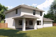 Bungalow Style House Plan - 3 Beds 2.5 Baths 2251 Sq/Ft Plan #455-220 Exterior - Rear Elevation