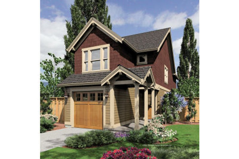 Craftsman Exterior - Front Elevation Plan #48-376