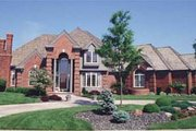 European Style House Plan - 4 Beds 6 Baths 3950 Sq/Ft Plan #20-204 Exterior - Front Elevation
