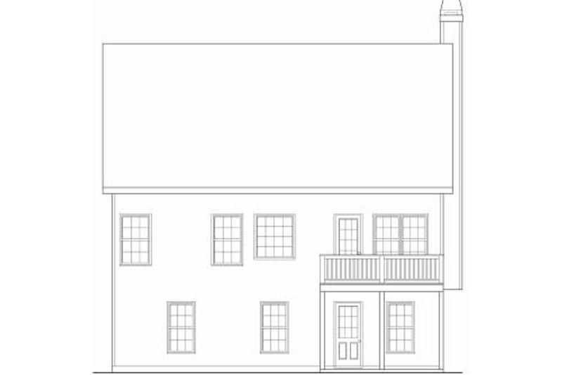 Farmhouse Exterior - Rear Elevation Plan #419-107 - Houseplans.com
