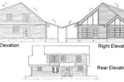 Log Style House Plan - 2 Beds 2 Baths 1940 Sq/Ft Plan #17-486 Exterior - Rear Elevation