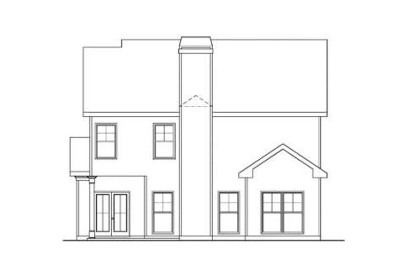 Craftsman Exterior - Rear Elevation Plan #419-197 - Houseplans.com
