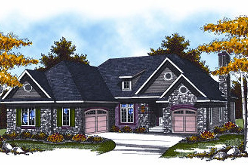 European Exterior - Front Elevation Plan #70-867