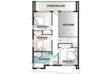 Modern Floor Plan - Upper Floor Plan Plan #23-2310