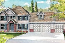 Home Plan - Traditional Exterior - Front Elevation Plan #124-490