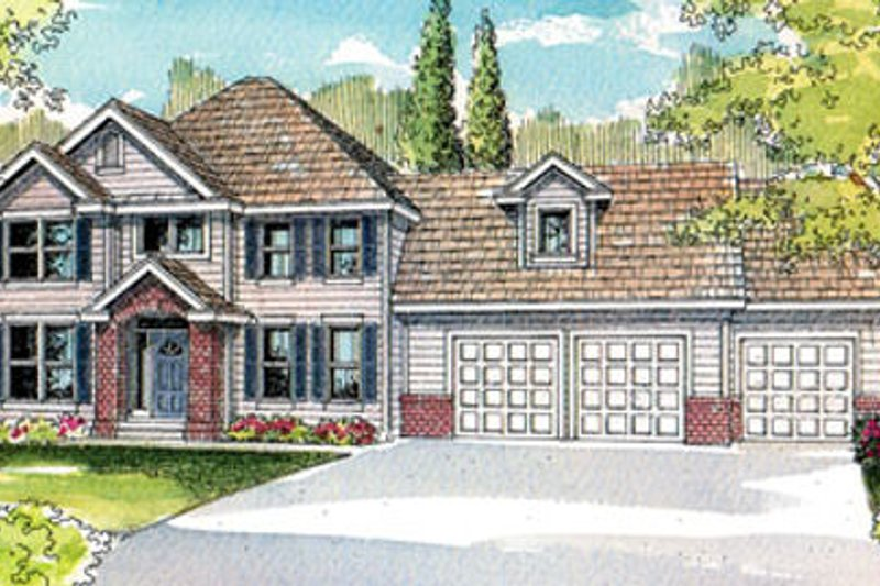 Traditional Exterior - Front Elevation Plan #124-490