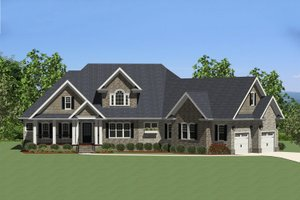 Traditional Exterior - Front Elevation Plan #898-16
