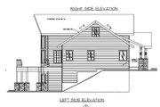 Bungalow Style House Plan - 3 Beds 2.5 Baths 3278 Sq/Ft Plan #117-542 Exterior - Rear Elevation