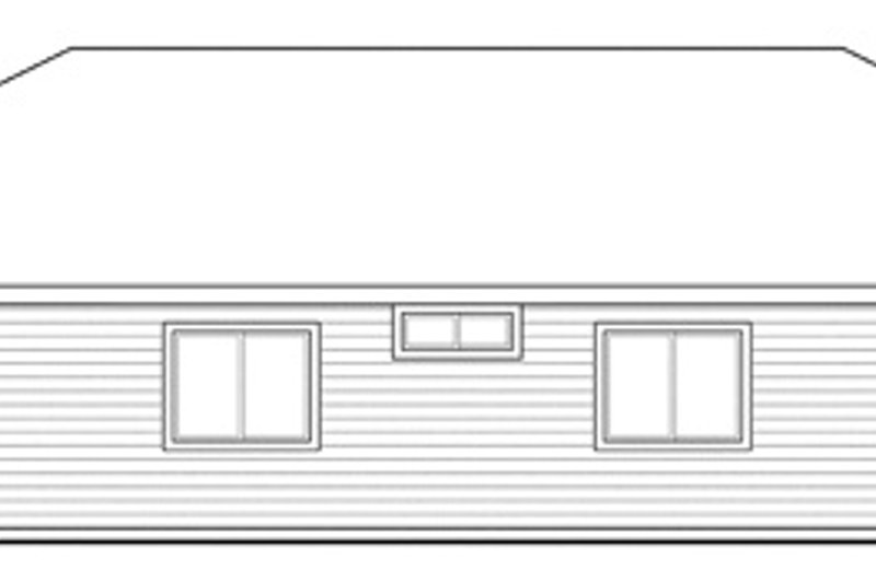 Traditional Exterior - Rear Elevation Plan #124-851 - Houseplans.com