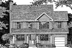 Country Exterior - Front Elevation Plan #12-213