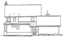 Craftsman Exterior - Rear Elevation Plan #942-52